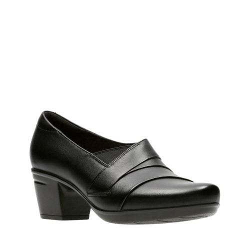 Clarks Emslie Warbler 26129224 Black Leather