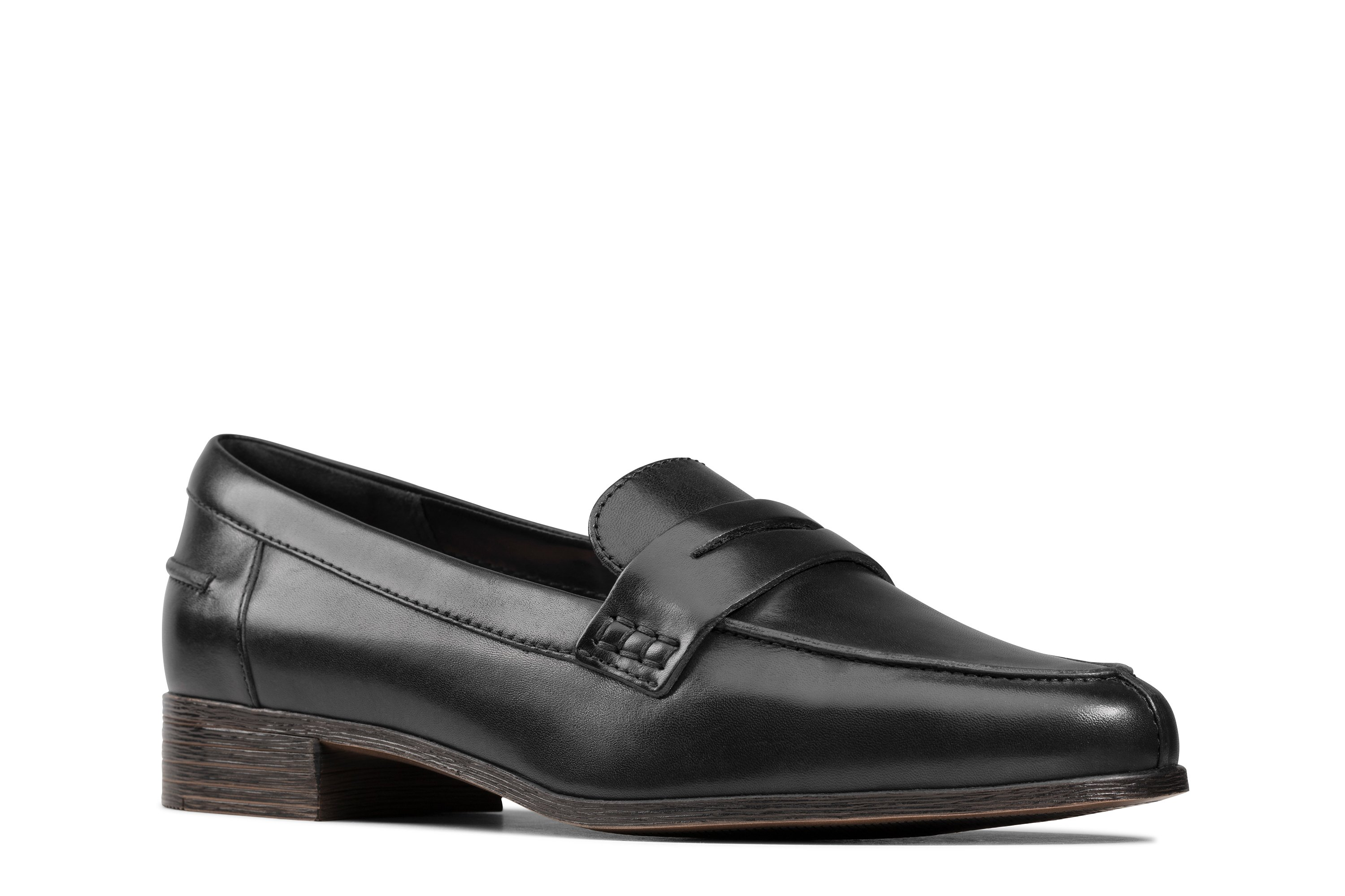 Clarks Hamble Loafer Black Leather 26147739