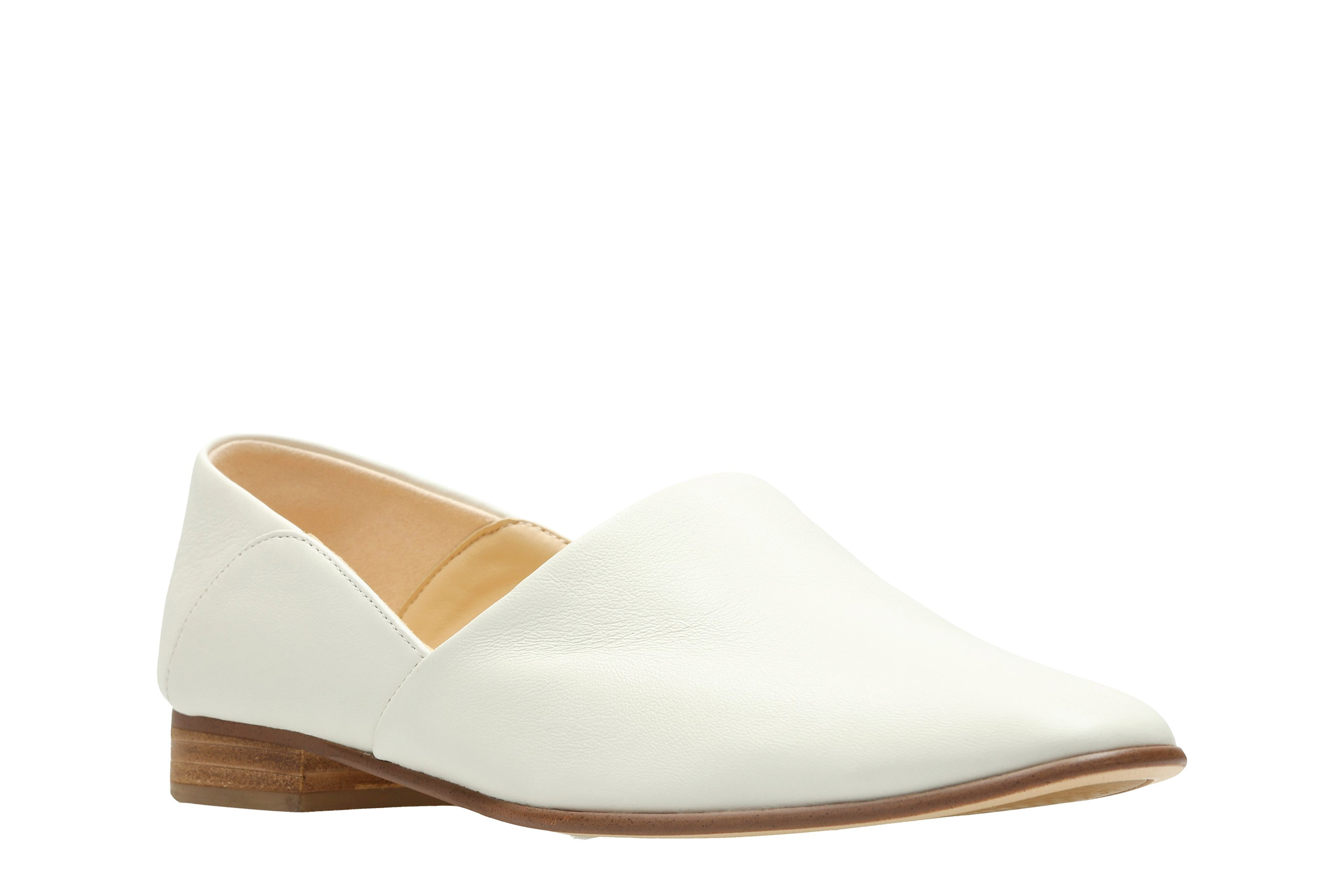 Clarks Pure Tone White Leather 26132487 March 20