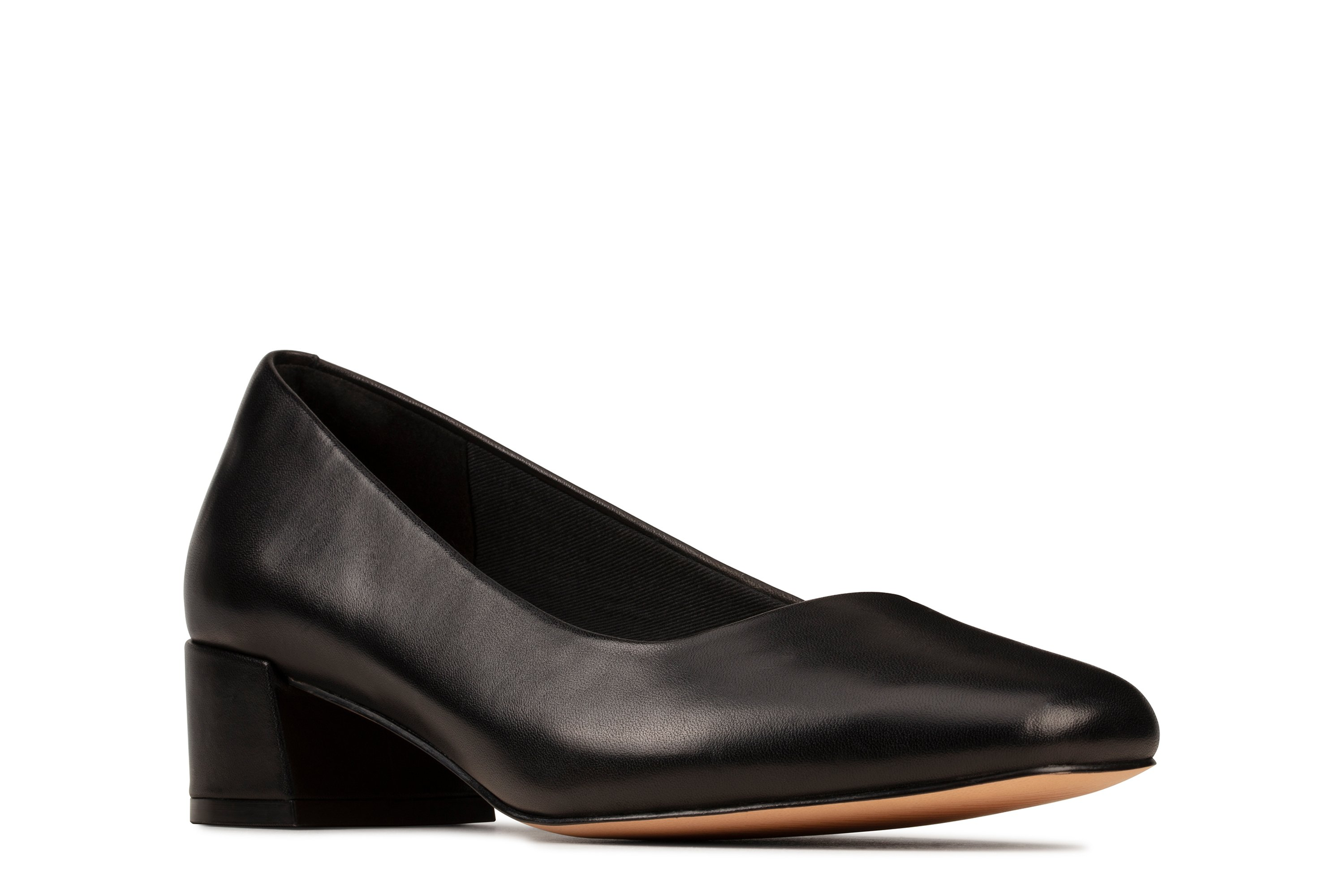 Clarks Sheer35 Court Black Leather 26148873