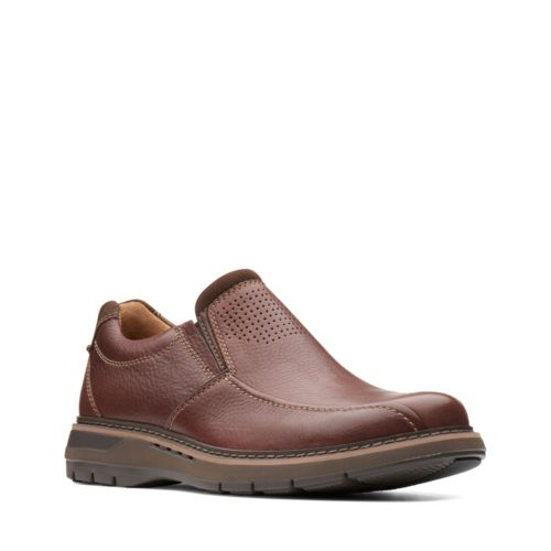 Clarks Un Ramble Step 26138188 Mahogany Leather
