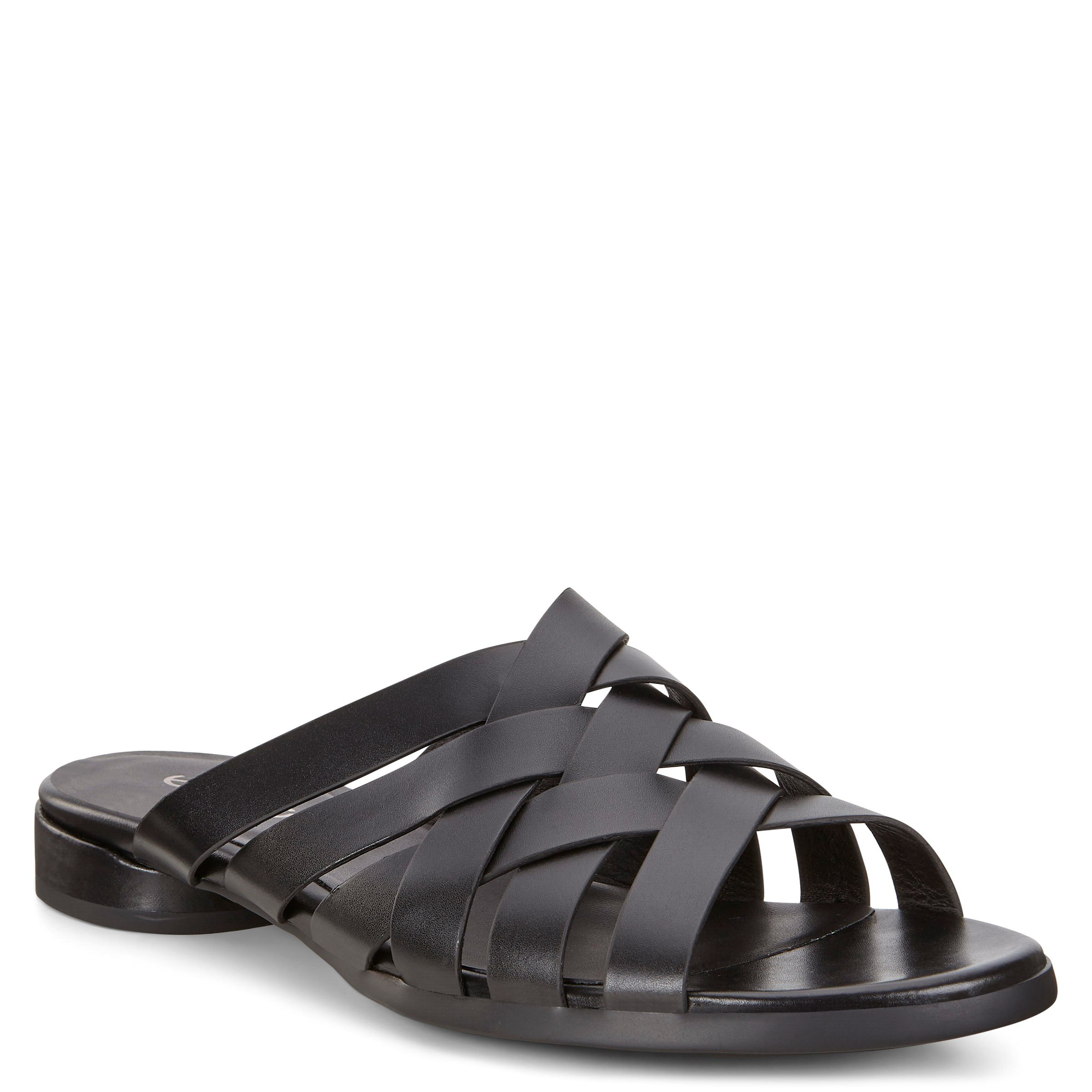 Ecc W FLAT SANDAL 208303-01001 BLACK ETERNITY