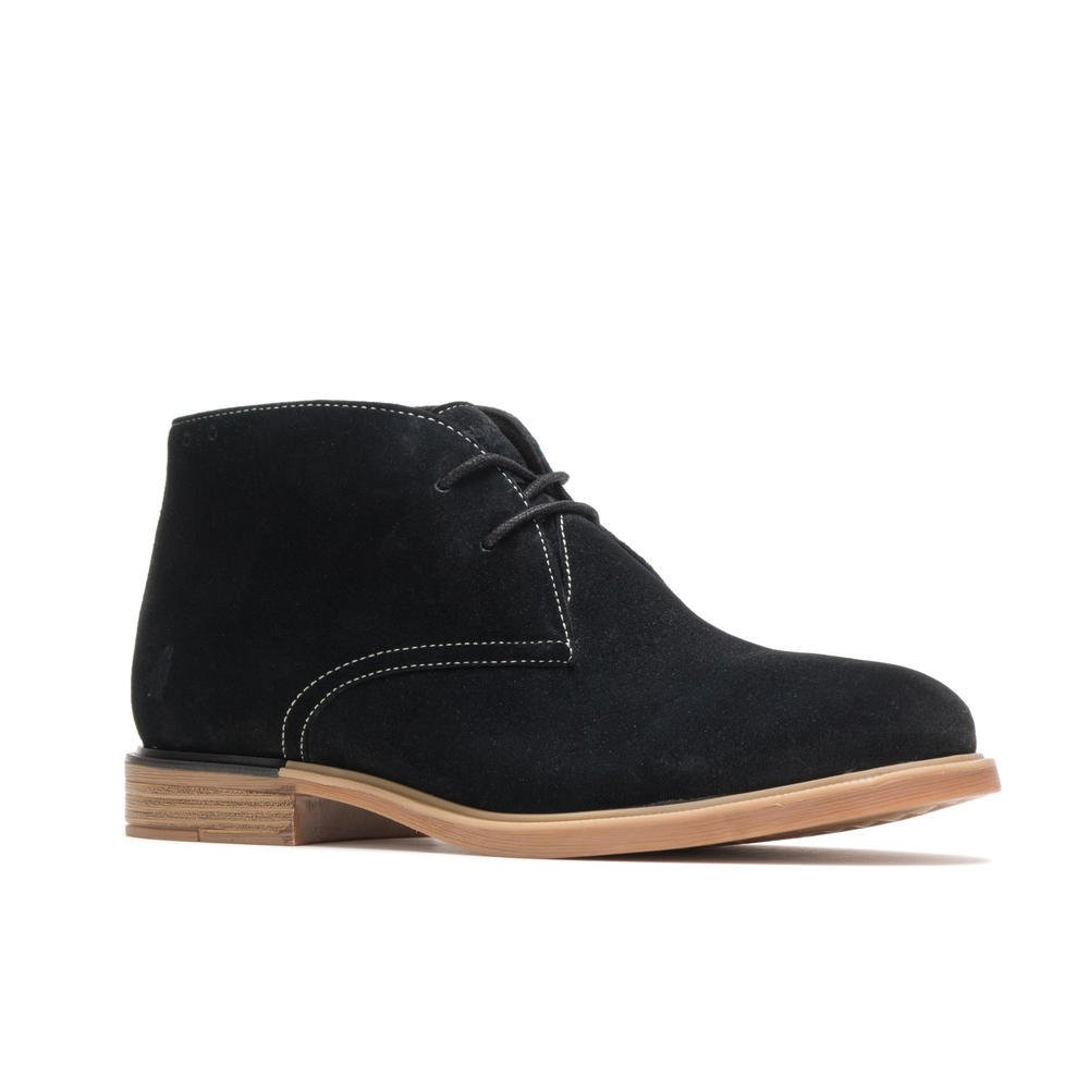 Hush Puppies Women BAILEY CHUKKA BOOT HW06572-007 BLACK SUEDE