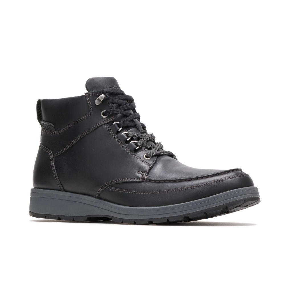 Hush Puppies BEAUCERON TALL ICE HMP1990-007 BLACK WP LEATHER