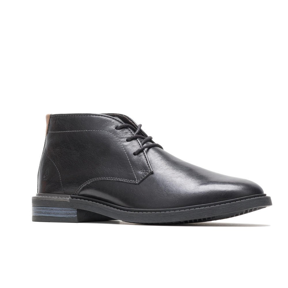 Hush Puppies DAVIS CHUKKA BOOTHM02078-007 BLACK LEATHER