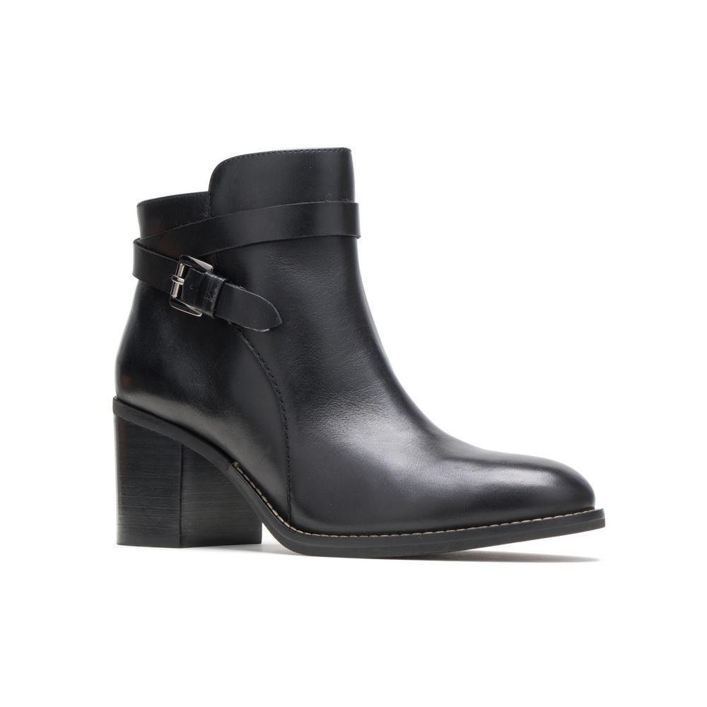 Hush Puppies HANNAH STRAP BOOT HW06586-007 Black Leather July 19