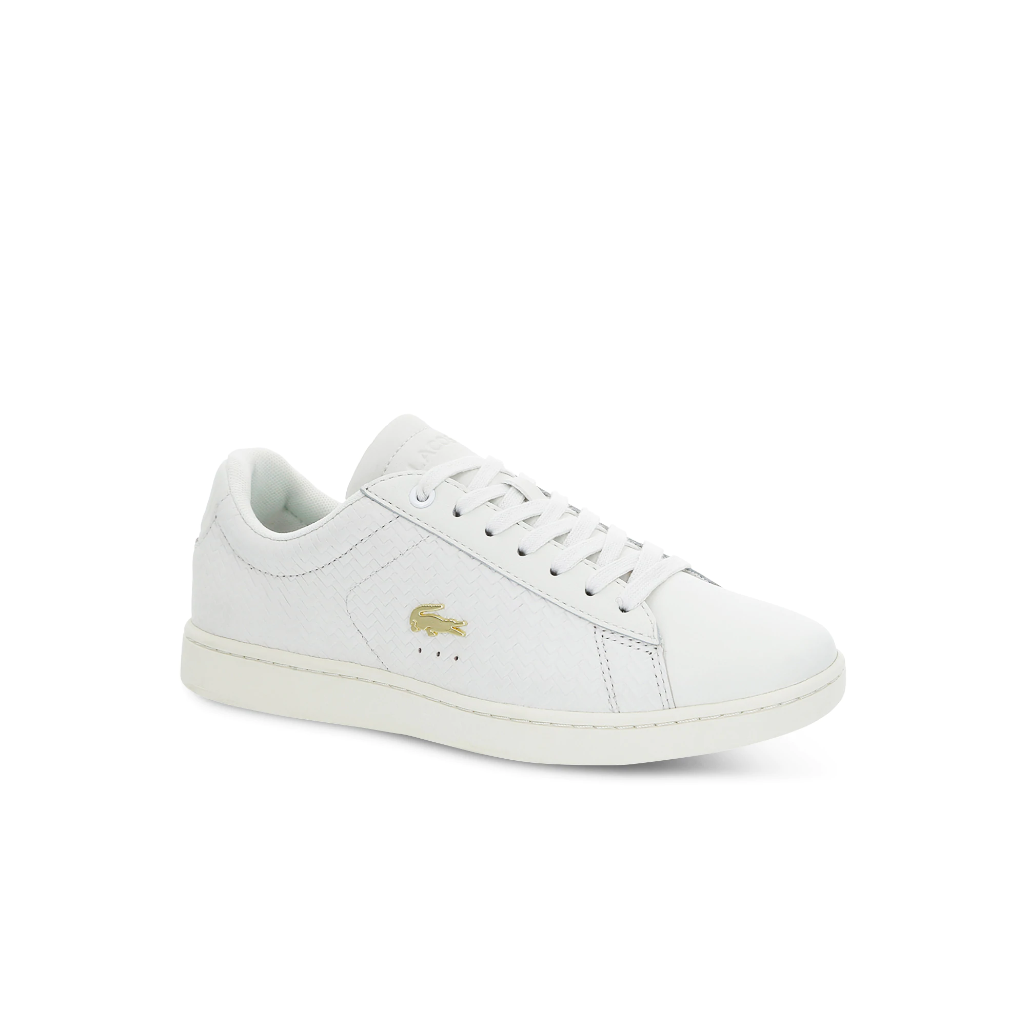 Lacoste Women's Carnaby Evo Textured Leather Trainers 37SFA0013-18C Wh